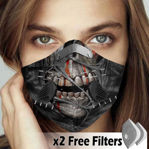 Activated Carbon Filter PM2.5 - Skull Mask 14