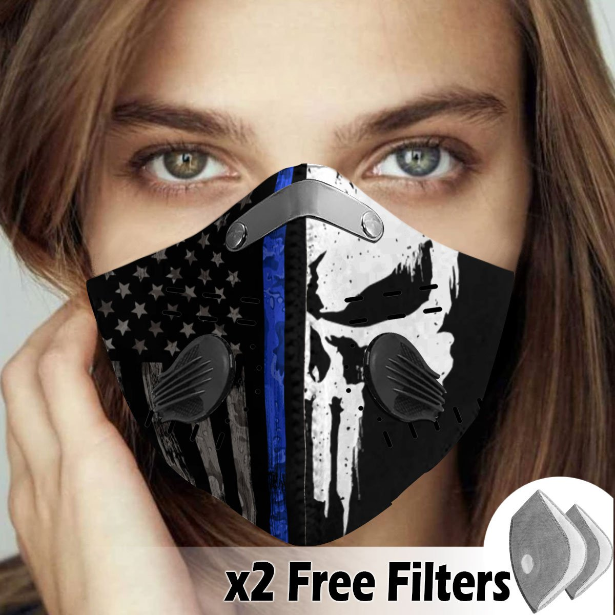 Activated Carbon Filter PM2.5 - American Flag Mask 08