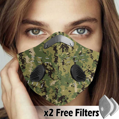 Activated Carbon Filter PM2.5 - Camo Mask 01