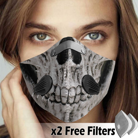 Activated Carbon Filter PM2.5 - Skull Mask 05