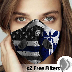 Activated Carbon Filter PM2.5 - American Flag Mask 09