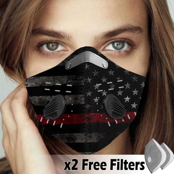 Activated Carbon Filter PM2.5 - American Flag Mask 06