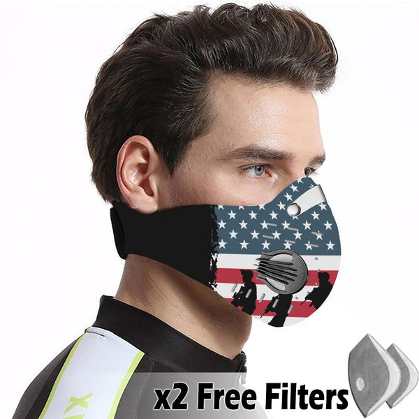 Activated Carbon Filter PM2.5 - American Flag Mask 07