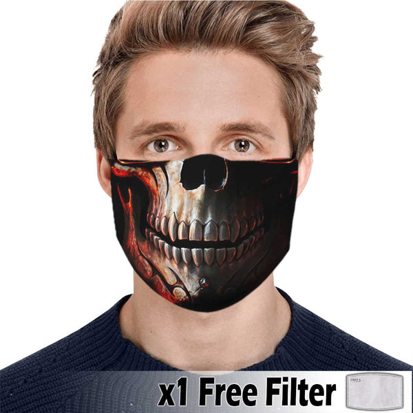 Activated Carbon Face Mask - Skull 16