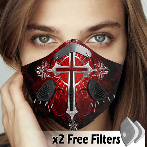 Activated Carbon Filter PM2.5 - Christian Mask 005