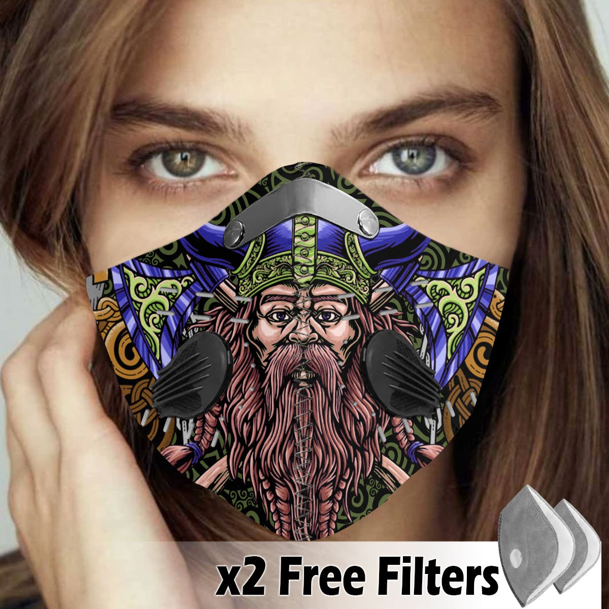 Viking Velcro Mask 089