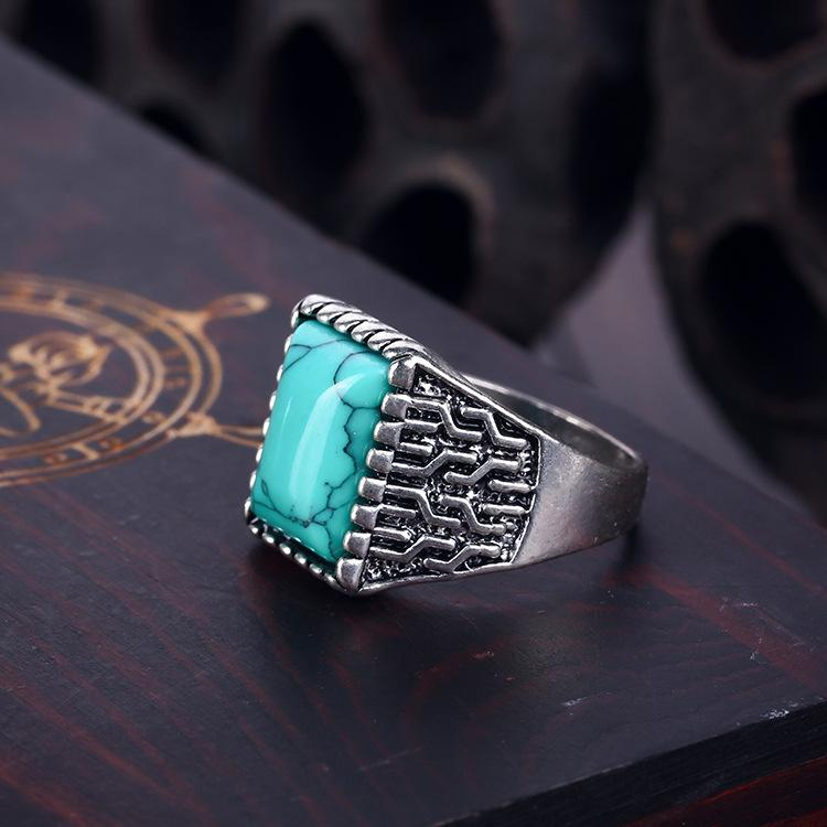 Vintage Turquoise Stone Ring - Free Gift