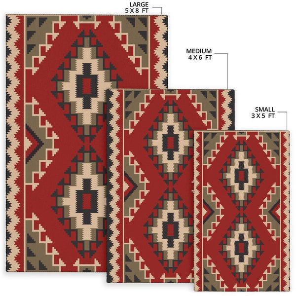 Red Native Pattern
