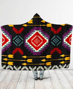 Connecting Pattern Hooded Blanket