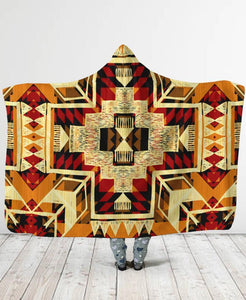 Native Pattern Hooded Blanket