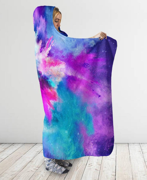 Color Hooded Blanket