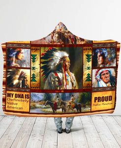 Native Chief Hooded Blanket