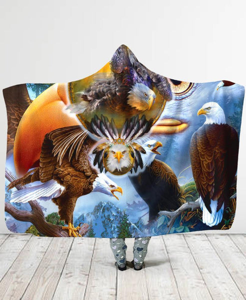 Feathers Hooded Blanket