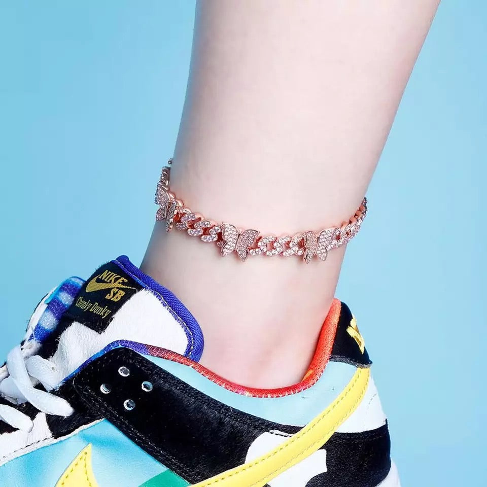 Butterfly Cuban Anklet