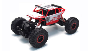 RC Rock Crawler Conqueror rot, 4WD M 1:18 2,4 GHz inkl Akku