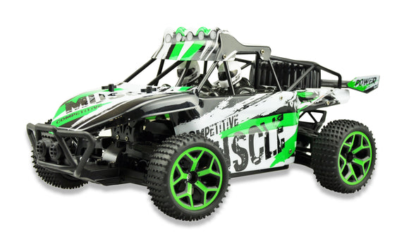 RC Sand Buggy X-Knight 20km/h 4WD Allrad 2,4 GHz proportionales Gas grün