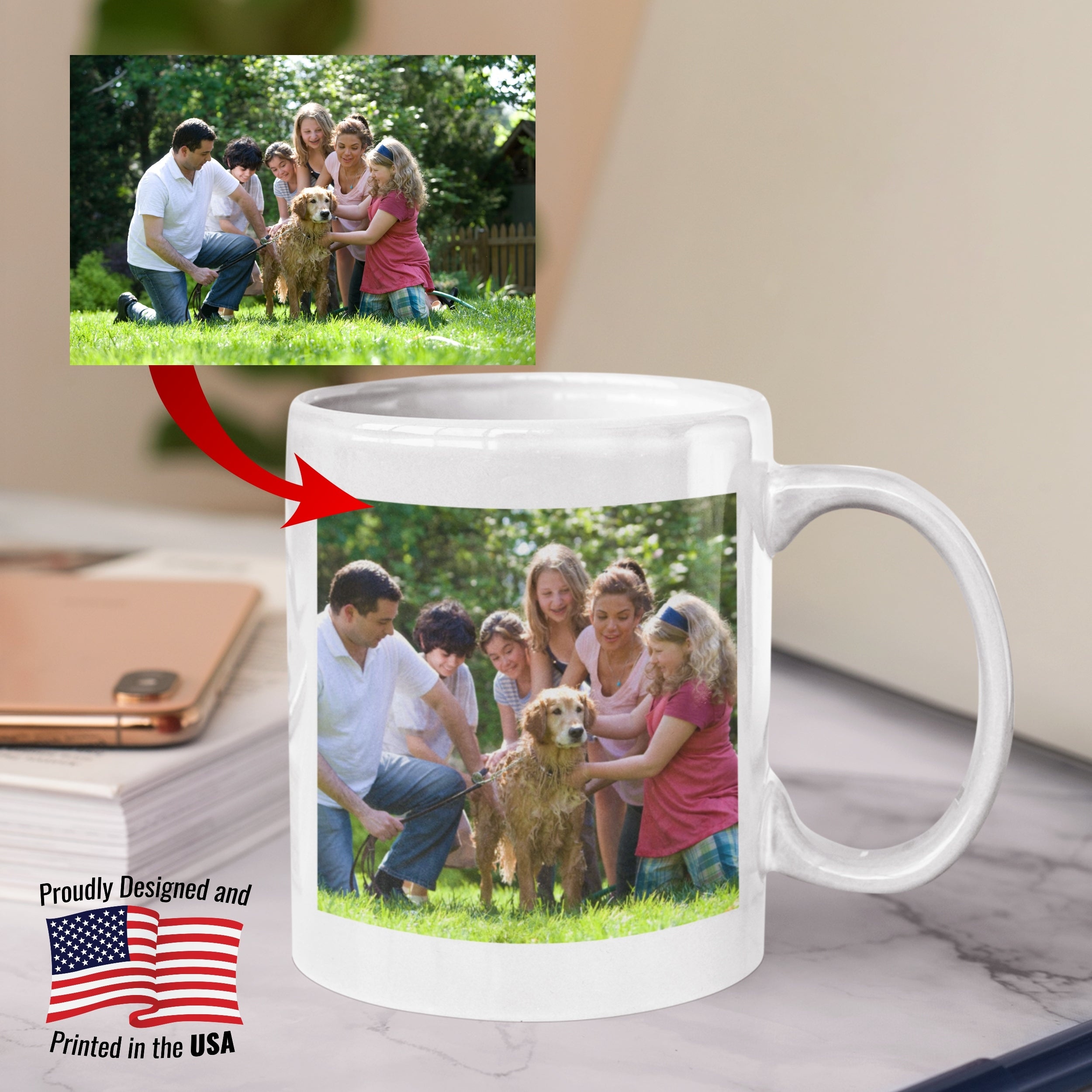 11oz Personalized Accent Mug