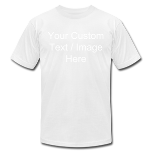 Men's Soft Personalized T-shirt - white