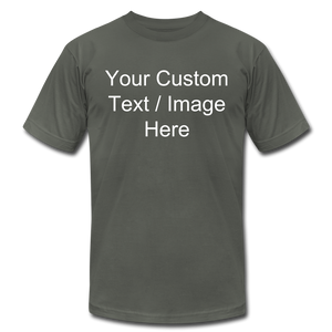 Men's Soft Personalized T-shirt - asphalt