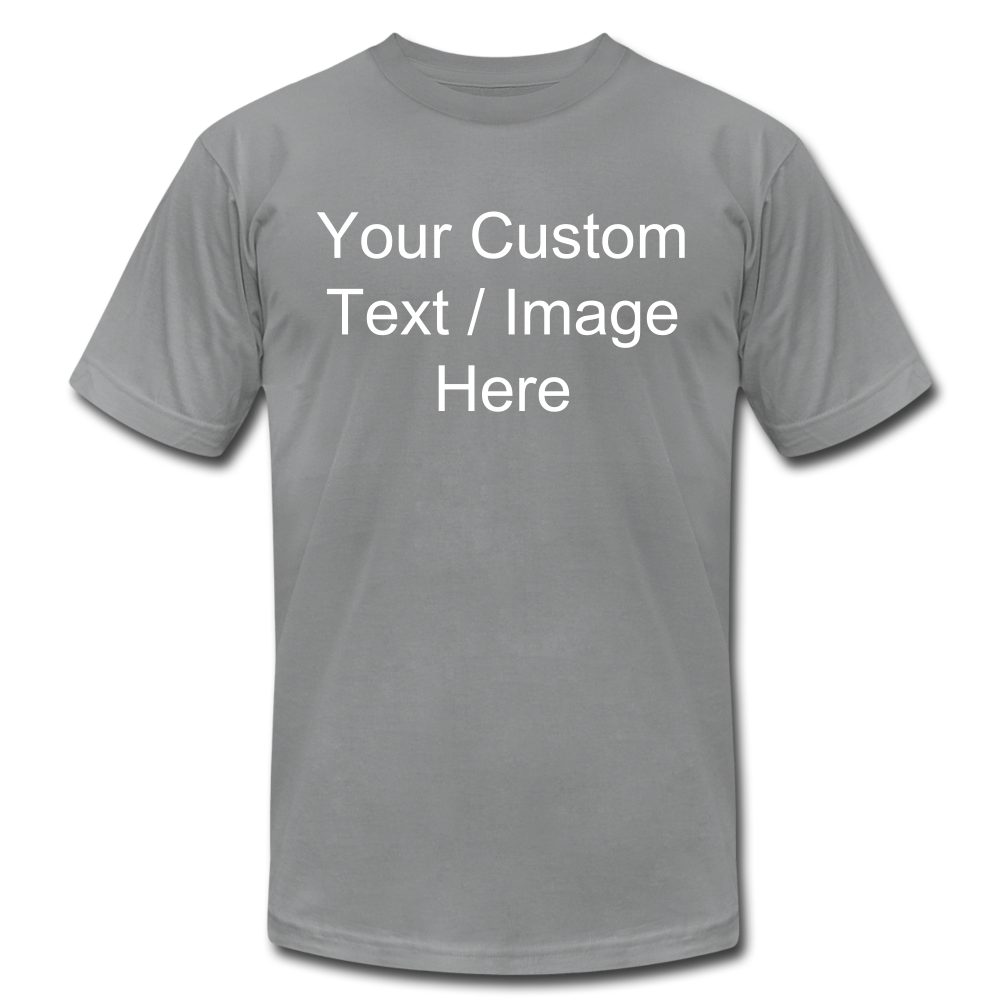 Men's Soft Personalized T-shirt - slate