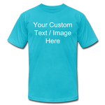 Load image into Gallery viewer, Men's Soft Personalized T-shirt - turquoise