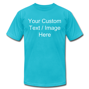 Men's Soft Personalized T-shirt - turquoise