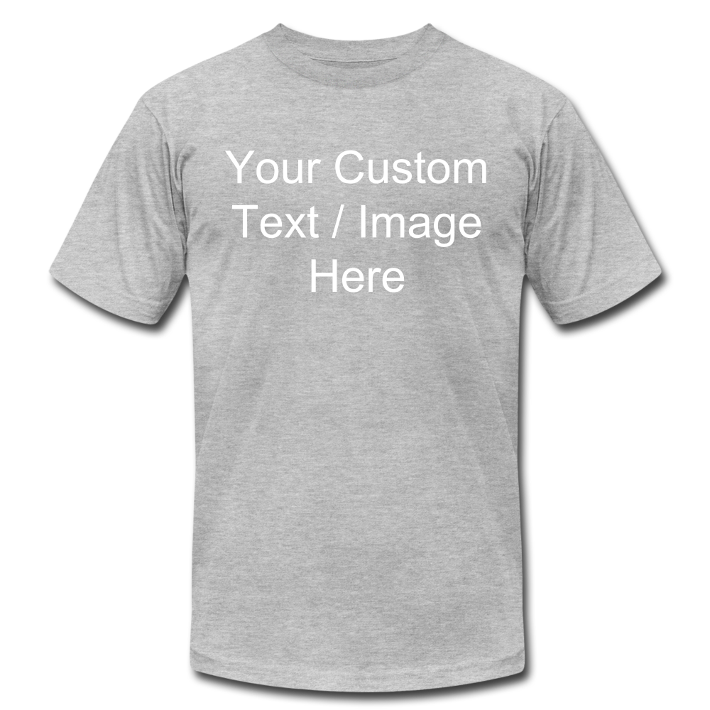 Men's Soft Personalized T-shirt - heather gray