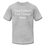 Load image into Gallery viewer, Men's Soft Personalized T-shirt - heather gray