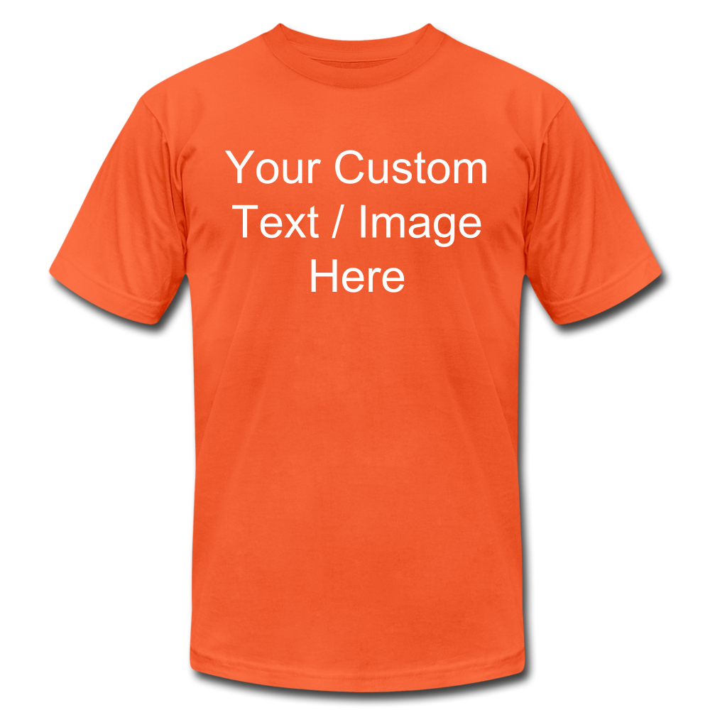 Men's Soft Personalized T-shirt - orange