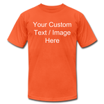 Load image into Gallery viewer, Men's Soft Personalized T-shirt - orange