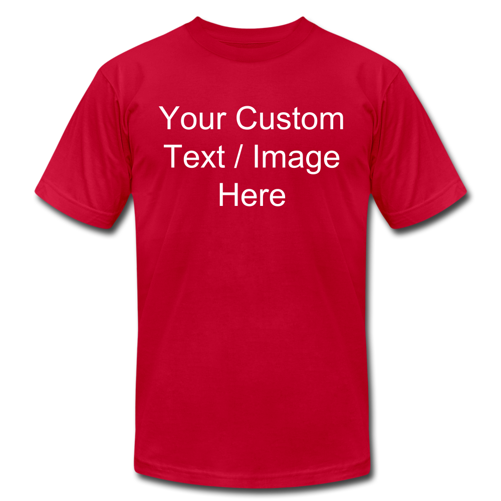 Men's Soft Personalized T-shirt - red