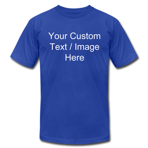 Design Your Own Shirt - royal blue