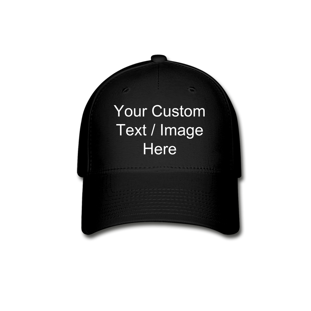 Custom Baseball Cap - black