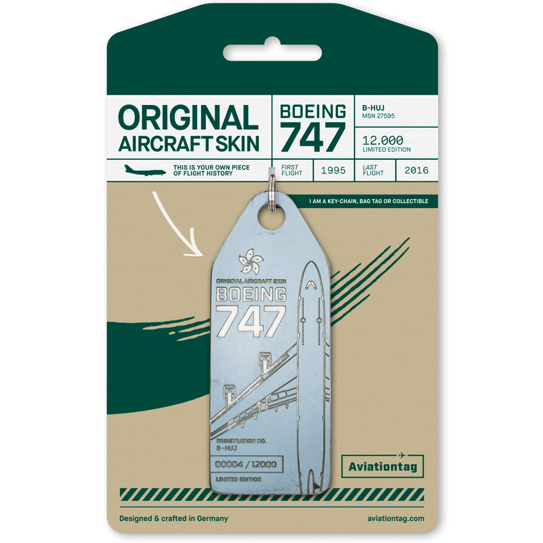 Aviationtag Cathay Pacific Boeing 747 (B-HUJ) - Grey