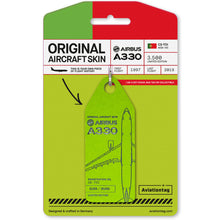 Load image into Gallery viewer, AviationTag TAP Airbus A330 (CS-TOI) - Light Green