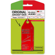 Load image into Gallery viewer, AviationTag TAP Airbus A330 (CS-TOI) - Red
