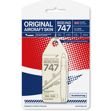 Load image into Gallery viewer, Aviationtag British Airways Boeing 747 (G-CIVE) - White