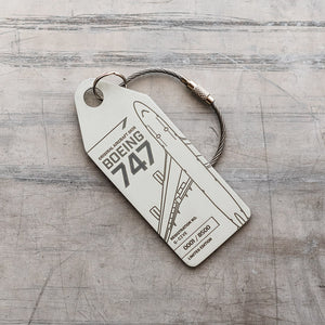 Aviationtag British Airways Boeing 747 (G-CIVE) - White