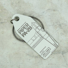 Load image into Gallery viewer, Aviationtag Piper PA28 (D-EBRI) - White - AV Tags
