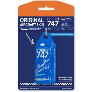 Aviationtag KLM Boeing B747 (PH-BFF)