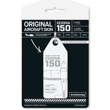 Load image into Gallery viewer, Aviationtag Cessna 150 (D-EOMO) - White - AV Tags