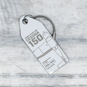 Aviationtag Cessna 150 (D-EOMO) - White - AV Tags