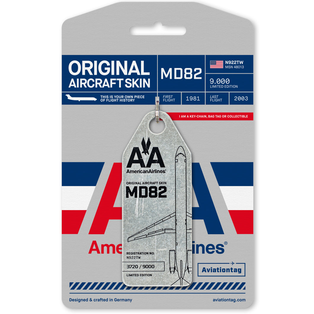 Aviationtag American Airlines Douglas MD82 (N922TW)