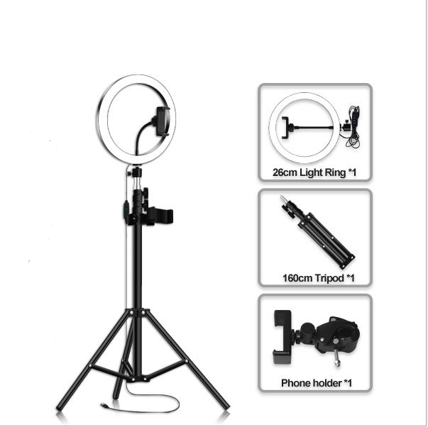 Selfie Tripod 4 en 1 avec Led Light