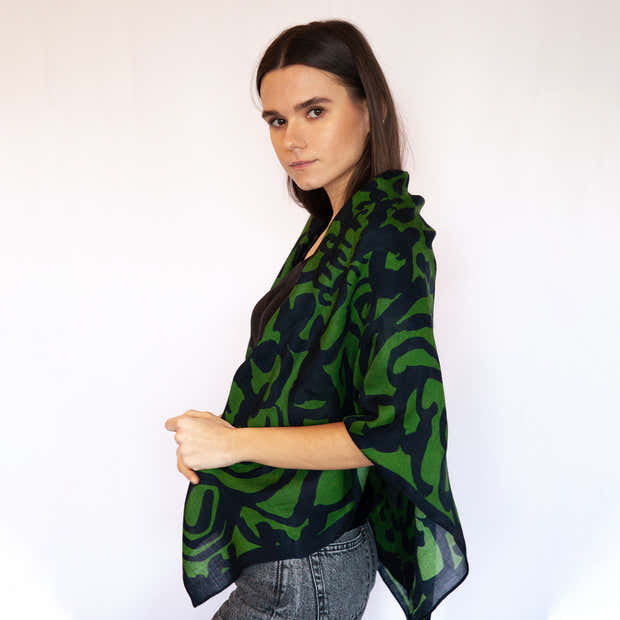 Pickle Forest Wool Scarf 1