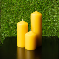 Beeswax Pillar Candle - Wide by National Candles