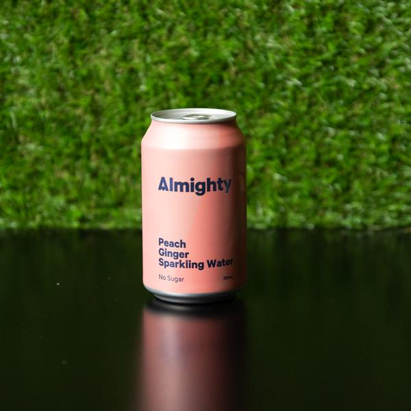 Peach + Ginger Filtered Sparkling Water by Almighty