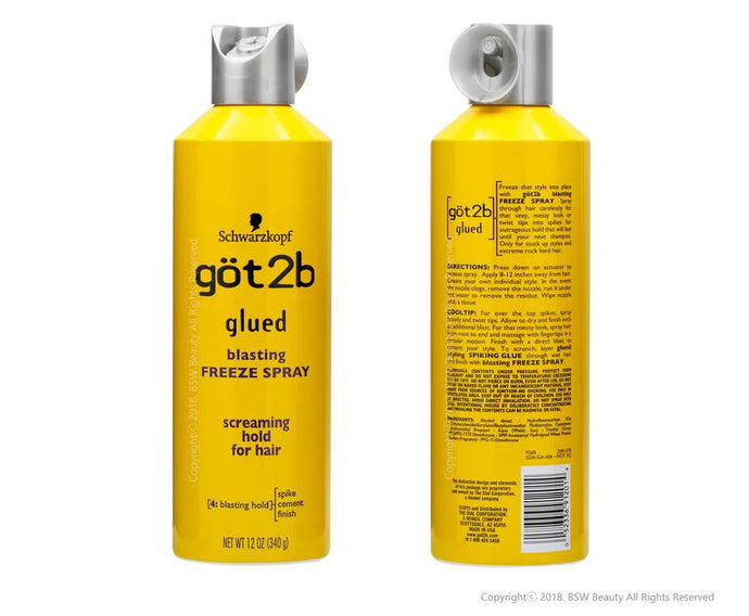 GOT2B Glued Freeze Spray