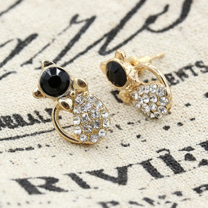 Golden Kitty Luxe Studs