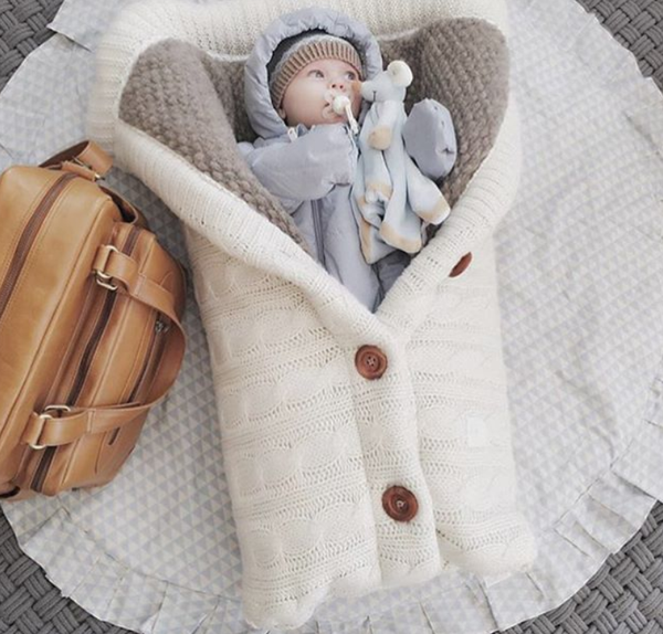 Newborn Knitted Swaddle Wrap - Beyond Baby Talk